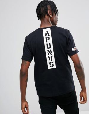 AAPE BY A BATHING APE Футболка с принтом Universe на спине. Цвет: черный