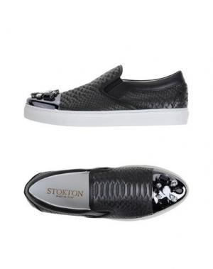 Низкие кеды и кроссовки STOKTON. Цвет: черный