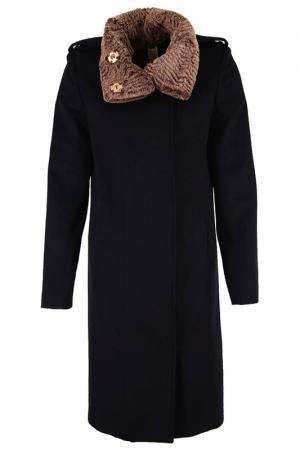 Пальто с утепленным воротом Thomas Wylde. Цвет: черный