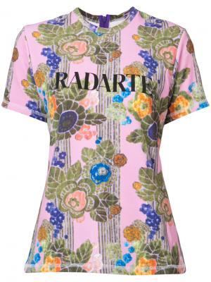 Футболка Radarte Rodarte. Цвет: розовый и фиолетовый