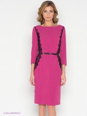 Платье Pompa. Цвет: фуксия, черный
