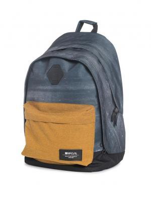 Рюкзак  STACKER DOUBLE DOME Rip Curl. Цвет: черный, антрацитовый, светло-коричневый, рыжий