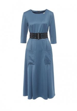 Платье Bezko. Цвет: голубой