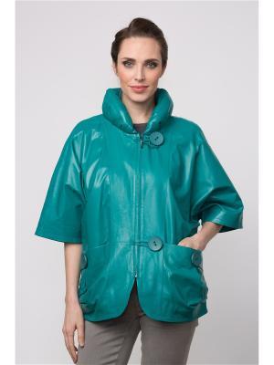 Кожаная куртка MONDIAL. Цвет: бирюзовый