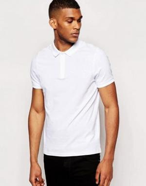 ASOS Белая футболка-поло. Цвет: белый