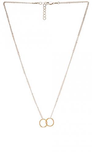 Ожерелье float Mimi & Lu. Цвет: металлический серебряный