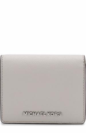 Кожаный кошелек с логотипом бренда MICHAEL Kors. Цвет: серый