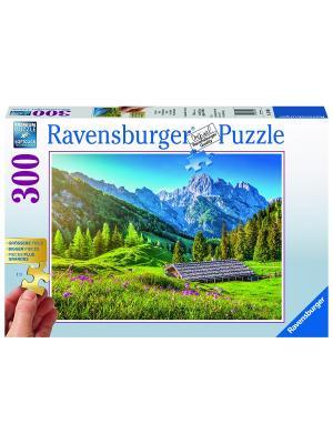 Пазл Альпийские луга300 шт Ravensburger. Цвет: синий