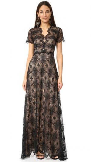 Вечернее платье Gen Catherine Deane. Цвет: черный/миндальный