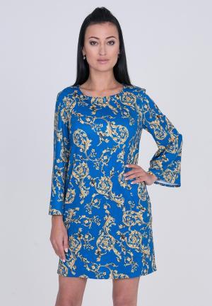 Платье Лярго. Цвет: синий