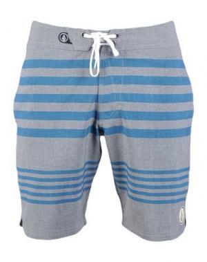 Пляжные брюки и шорты VOLCOM. Цвет: серый