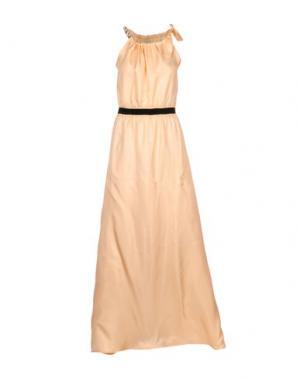 Длинное платье PINKO TAG. Цвет: абрикосовый