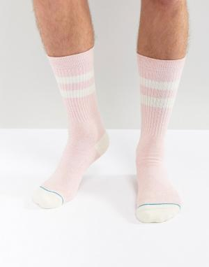 Stance Розовые носки Crew. Цвет: розовый