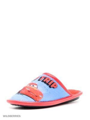 Туфли комнатные с верхом из текстильных  материалов детские. BRIS. Цвет: синий, красный