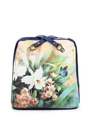 Сумка-рюкзак AnnA Wolf. Цвет: синий,желтый