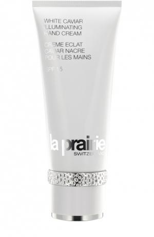 Крем для рук White Caviar Illuminating Hand Cream SPF 15 La Prairie. Цвет: бесцветный