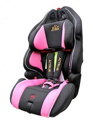 Автокресло ACTRUM. Цвет: черный, розовый