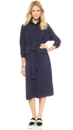 Платье-рубашка Odessa Rodebjer. Цвет: темно-синий