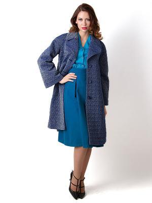 Пальто Vika Smolyanitskaya. Цвет: синий, золотистый