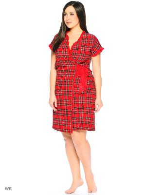 Халат, модель Мэлони Dorothy's Home. Цвет: красный, кремовый, черный