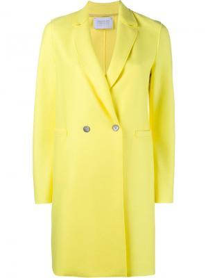 Двубортное пальто свободного кроя Harris Wharf London. Цвет: жёлтый и оранжевый