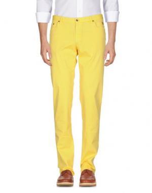 Повседневные брюки MORRIS. Цвет: желтый