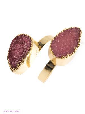 Кольцо Kameo-bis. Цвет: золотистый, розовый
