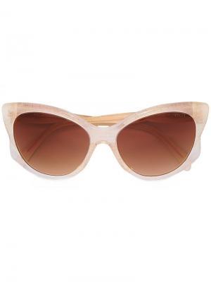 Солнцезащитные очки с оправой кошачий глаз Emilio Pucci. Цвет: телесный