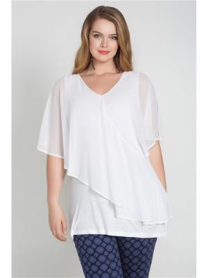 Блузка Bestiadonna. Цвет: белый