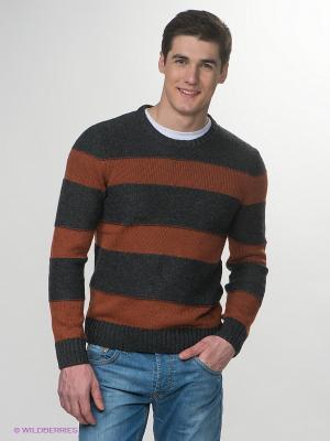 Джемпер Jeanswest. Цвет: терракотовый, темно-серый