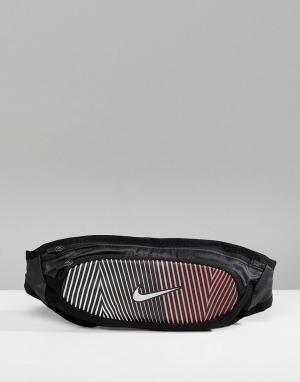 Nike Running Большая черная сумка-кошелек на пояс RL.97-096. Цвет: черный