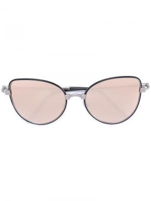 Солнцезащитные очки в оправе кошачий глаз Cutler & Gross. Цвет: чёрный