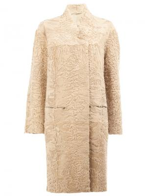Двухстороннее пальто 32 Paradis Sprung Frères. Цвет: телесный