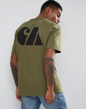 Carhartt Спортивная футболка в стиле милитари WIP. Цвет: зеленый