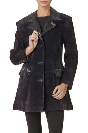 Пальто Giuliano Renzo. Цвет: фиолетовый
