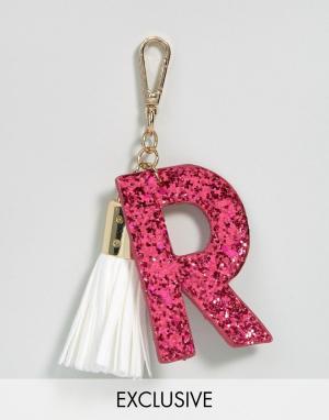 Skinnydip Брелок для ключей с буквой R. Цвет: мульти