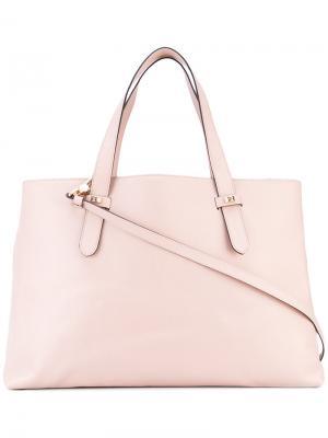 Классическая сумка-тоут Borbonese. Цвет: розовый и фиолетовый