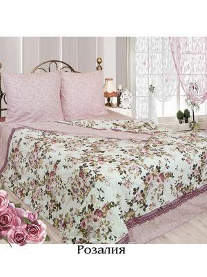 Постельное белье 2 сп. Sova and Javoronok. Цвет: белый, бледно-розовый, светло-бежевый