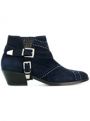 Ботинки Bianca Cowboy Anine Bing. Цвет: синий