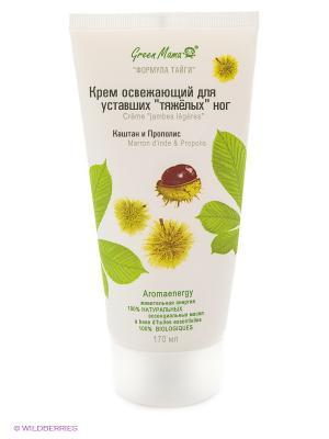 Крем освежающий для уставших тяжелых ног Каштан и Прополис Green mama. Цвет: белый