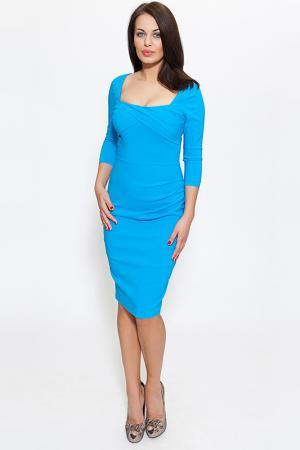 Платье Diva. Цвет: azure
