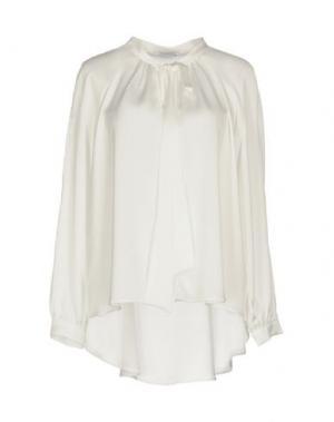 Блузка BIANCOGHIACCIO. Цвет: белый