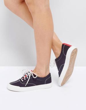 Tommy Jeans Классические парусиновые кроссовки. Цвет: синий