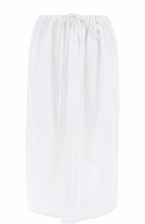 Хлопковая юбка-миди с эластичным поясом Atlantique Ascoli. Цвет: белый