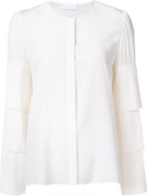 Блузка с оборками на рукавах Co. Цвет: белый
