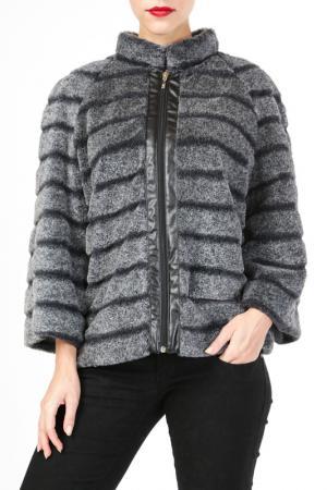 Куртка DONNA ENRICA. Цвет: серый