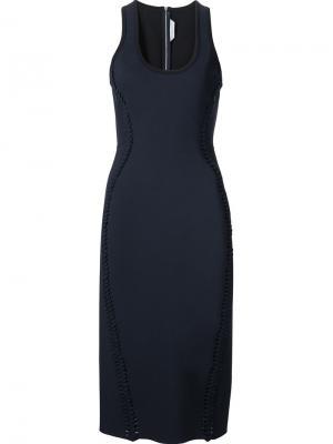 Облегающее платье с плетеными деталями Dion Lee. Цвет: синий