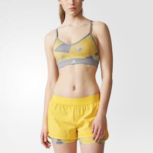 Спортивны бра-топ STRAPPY PRINT  Performance adidas. Цвет: желтый