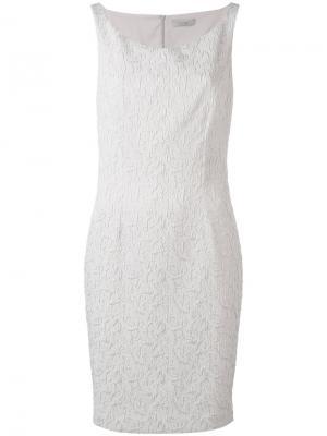 Жаккардовое платье с вырезом-лодочка D.Exterior. Цвет: серый