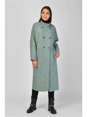 Пальто Maria Velada. Цвет: серо-зеленый